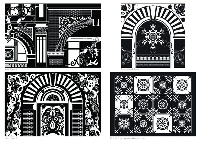 Decorative patterned panels
