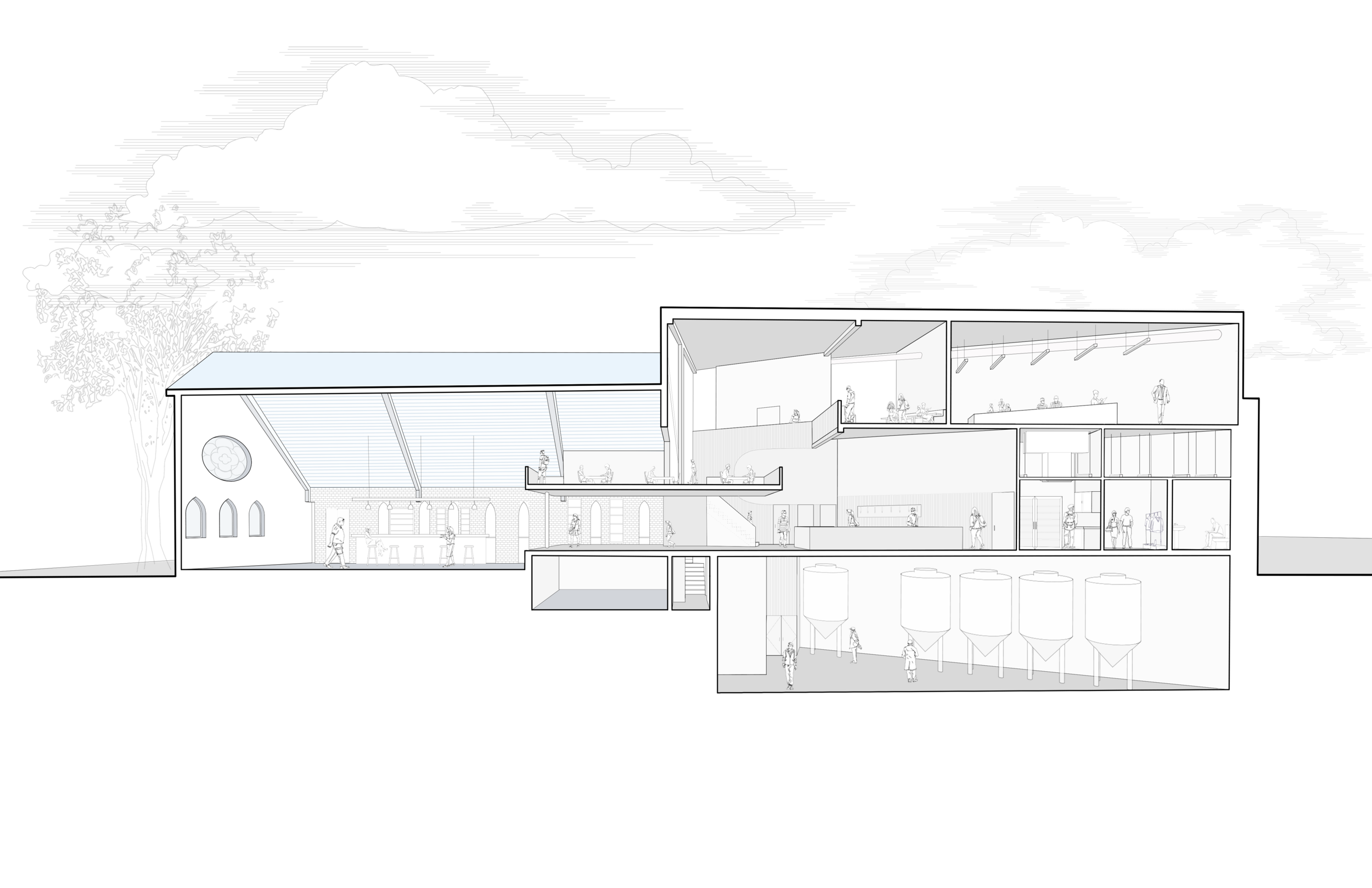 An architectural drawing