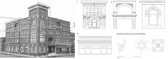 A building and architectural drawing