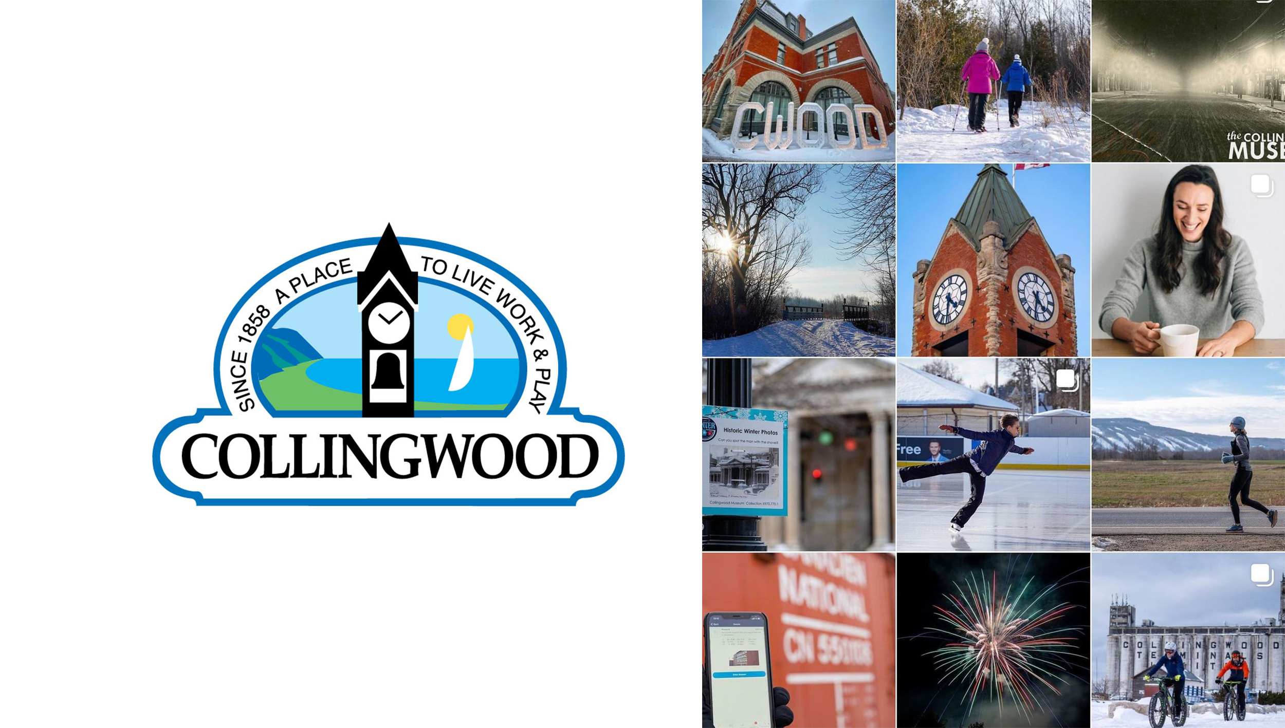 Town of Collingwood logo and Instagram screen shot