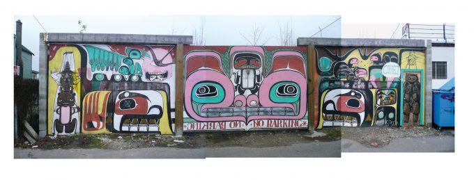 Wall with Northwest Coast art